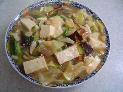 野菜と豆腐のうま煮
