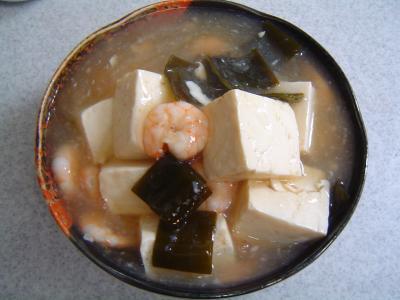 海老あんかけ豆腐