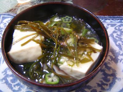 めかぶあんかけ豆腐(皿)