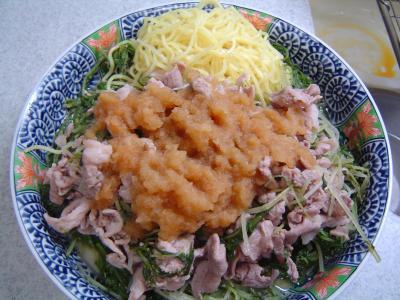 豚肉と水菜の蒸し煮