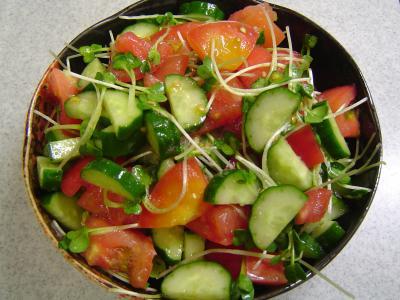 トマトとキュウリのサラダ