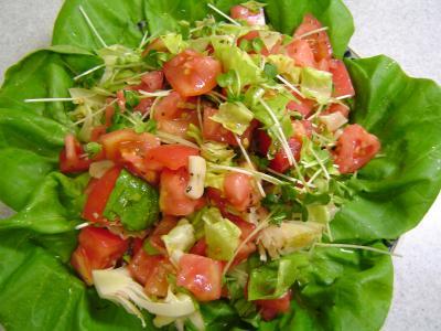 トマトのサラダ(にんにく風味ドレッシング)