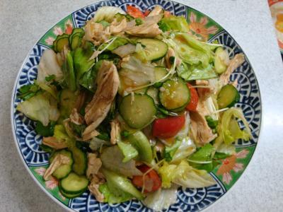 鶏むね肉と野菜のサラダ