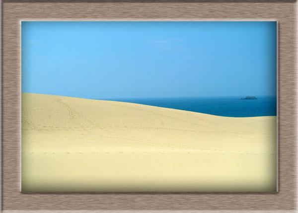 鳥取砂丘と島