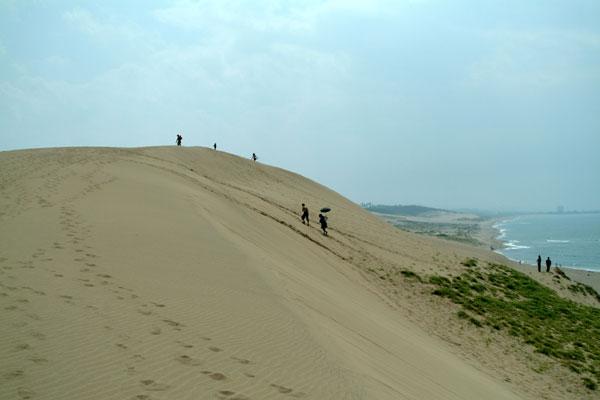 鳥取砂丘海岸への坂