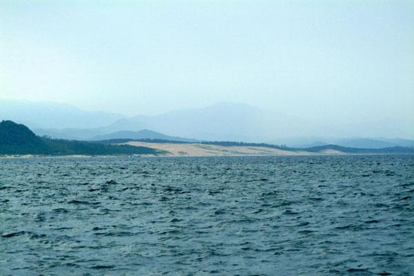 浦富海岸から砂丘