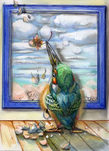 絵画とカワセミWEB