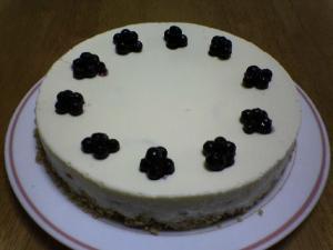 Wベリーのレアチーズケーキ