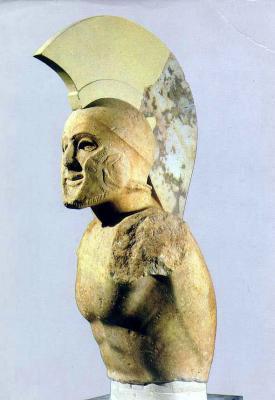 レオニダス王銅像