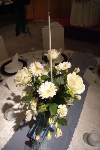 ゲストテーブル花