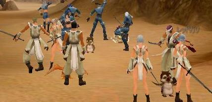 白装束vs青の戦隊