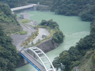 ダムの上から