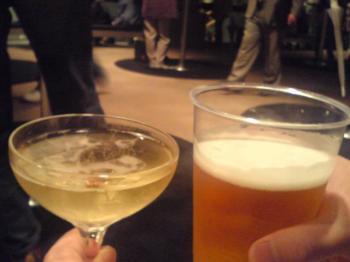 シャンパン&ビール