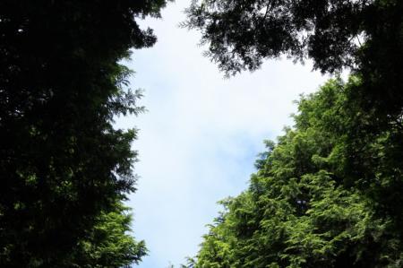 雲の隙間から見えた青空