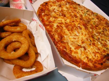 ピザ&オニオンリング