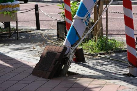 お祭り専用に歩道も作られてるのカナ。。