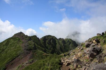 横岳・三叉峰へ。。