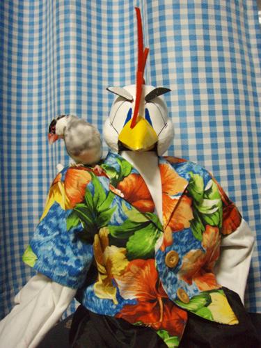 レグホーン&文鳥