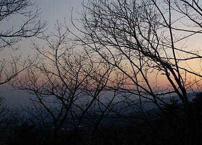 お山の夕暮れ7