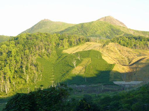 有珠山と金比羅山火口