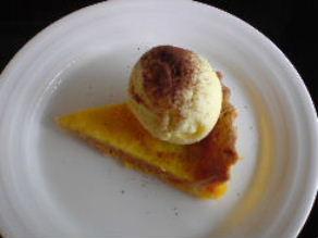 チーズタルト&バニラアイス