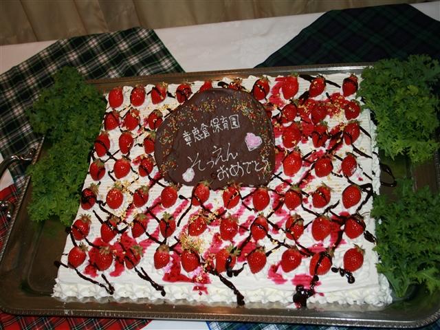 卒園ケーキ