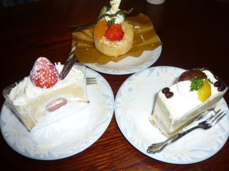 ケーキ3個