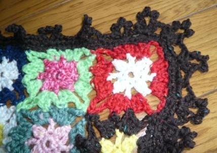 モチーフふち編み