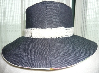 デニム帽子3