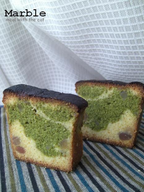 抹茶マーブルバターケーキ★