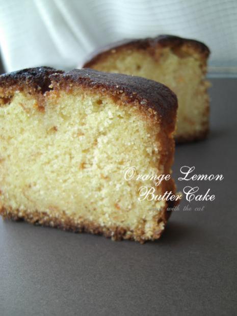 オレンジレモンのバターケーキ★