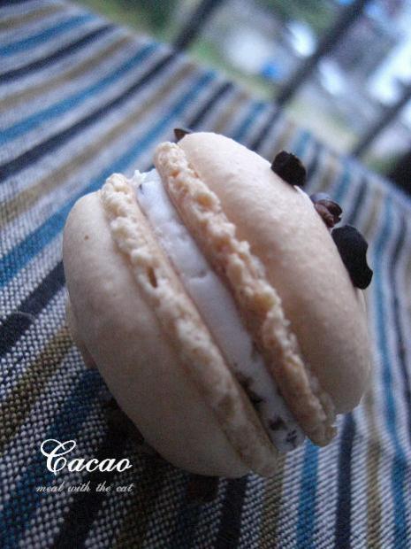 カカオニブバタークリームをイン!