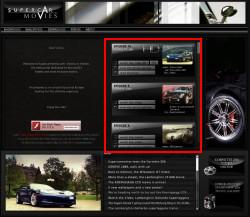 SUPERCAR MOVIESのサイト画像