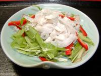 鶏ささみのサラダ2