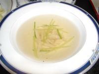SP鶏ササミとキュウリの中華スープ