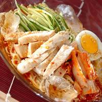 レンジ蒸し冷麺