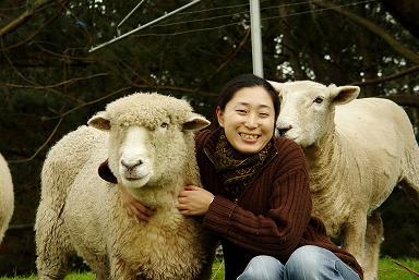Japanese girl with sheepB