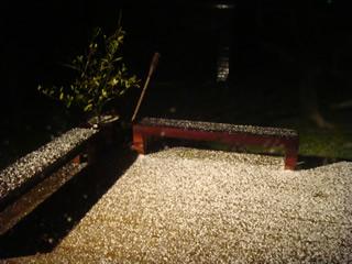 雹が降りました。