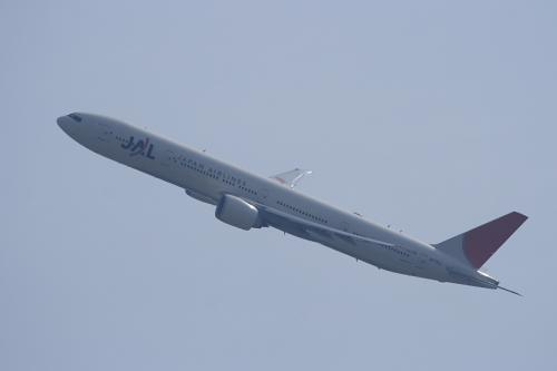 JAL B777-346ER JL3002@瑞ヶ丘公園グランド(by EF100-400)