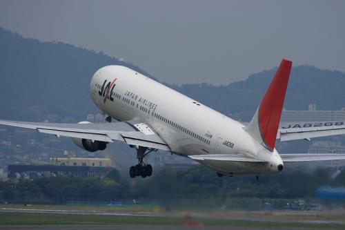 JAL B767-346 JL112@伊丹スカイパーク(by EF100-400)