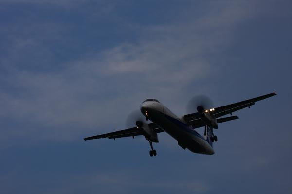 ANA DHC8-Q400 NH1656@RWY32Rエンド(by 40D with EF100-400)