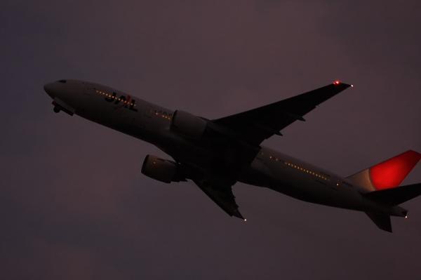 JAL B777-246 JL130@猪名川土手付近(by 40D with EF100-400)