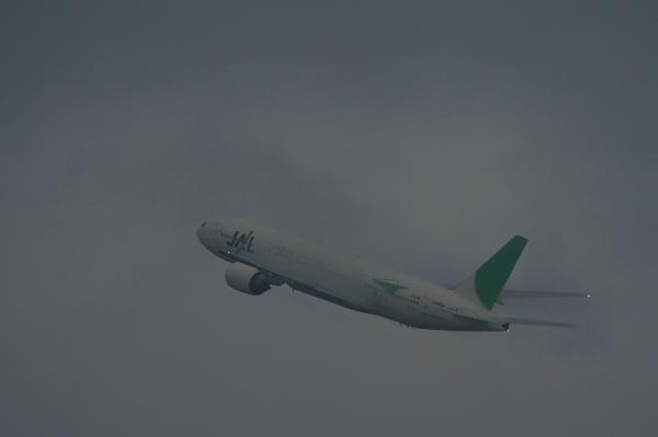 JAL B777-246 JL116@イオンモール立駐(by EF100-400)