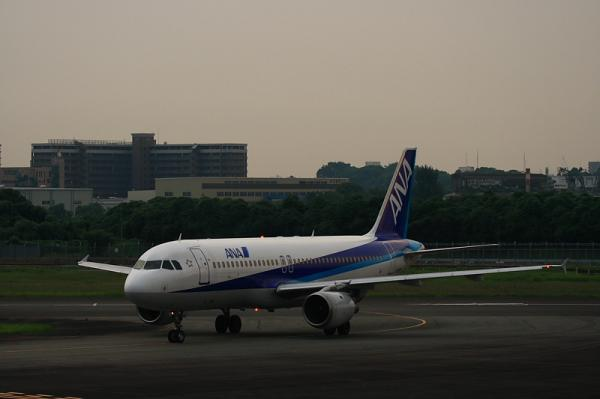 ANA A320 NH508@下河原緑地(by KDX with EF100-400)