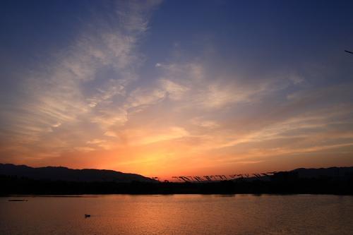(おまけ)GWフィナーレを飾る残照の空@昆陽池公園東畔(by SIGMA 18-50)