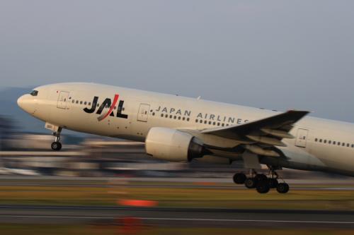 JAL B777-246 JL128@伊丹スカイパーク(by EF100-400)