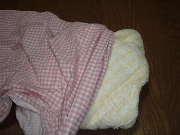タオルで包む