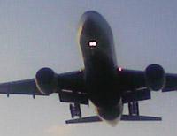着陸旅客機