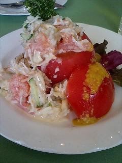 トマトとカニのサラダ