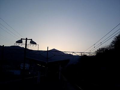 湯河原駅からの風景